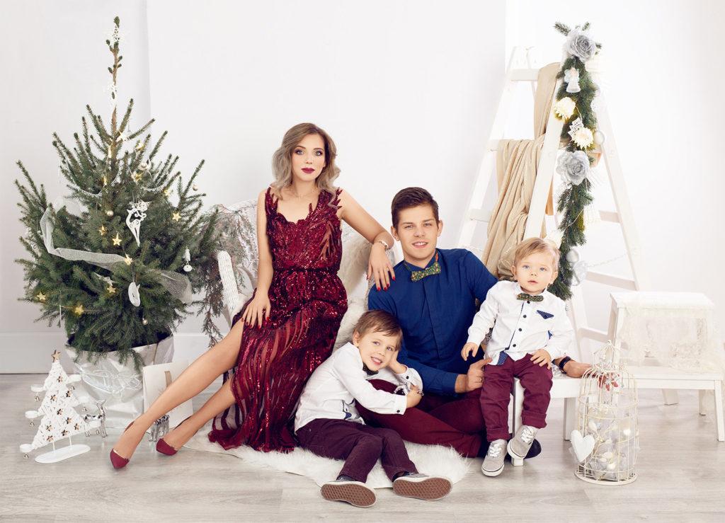 Świąteczny portret rodzinny